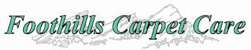 Foothills Carpet Care logo